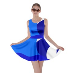 Blue Beach Sea Wave Waves Chevron Water Skater Dress by Mariart
