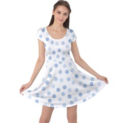Bubble Balloon Circle Polka Blue Cap Sleeve Dresses by Mariart