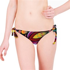 Flower Floral Sunflower Rose Color Rainbow Circle Polka Bikini Bottom by Mariart