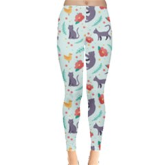 Redbubble Animals Cat Bird Flower Floral Leaf Fish Leggings  by Mariart
