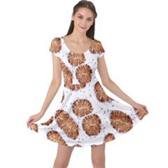 Formalin Paraffin Human Stomach Stained Bacteria Brown Cap Sleeve Dresses