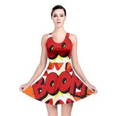Boom Sale Orange Reversible Skater Dress