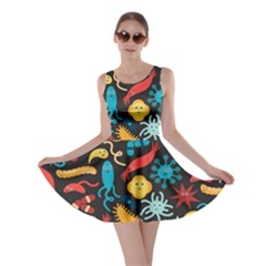 Worm Insect Bacteria Monster Skater Dress