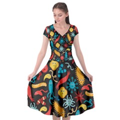 Worm Insect Bacteria Monster Cap Sleeve Wrap Front Dress by Mariart