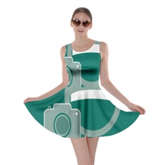 Laughs Funny Photo Contest Smile Face Mask Skater Dress by Mariart