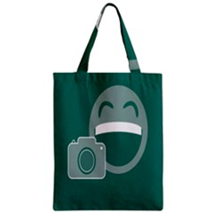 Laughs Funny Photo Contest Smile Face Mask Zipper Classic Tote Bag by Mariart