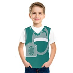 Laughs Funny Photo Contest Smile Face Mask Kids  Sportswear by Mariart