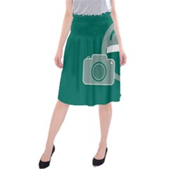 Laughs Funny Photo Contest Smile Face Mask Midi Beach Skirt by Mariart