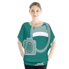 Laughs Funny Photo Contest Smile Face Mask Blouse by Mariart