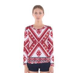 Fabric Aztec Women s Long Sleeve Tee by Mariart