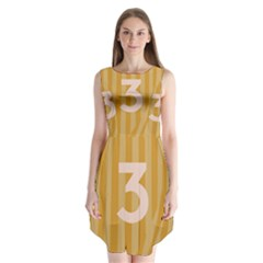 Number 3 Line Vertical Yellow Pink Orange Wave Chevron Sleeveless Chiffon Dress   by Mariart