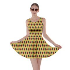 Points Cells Paint Texture Plaid Triangle Polka Skater Dress by Mariart