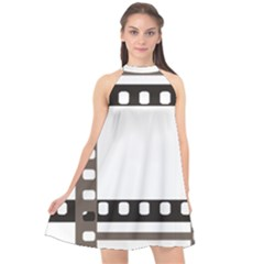 Frame Decorative Movie Cinema Halter Neckline Chiffon Dress  by Nexatart