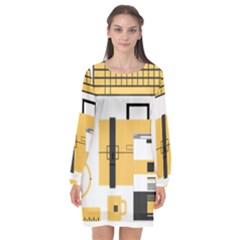 Web Design Mockup Web Developer Long Sleeve Chiffon Shift Dress  by Nexatart