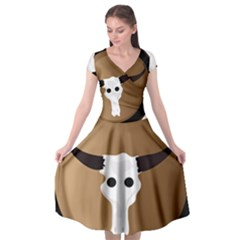Logo The Cow Animals Cap Sleeve Wrap Front Dress by Nexatart