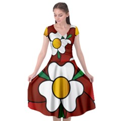 Flower Rose Glass Church Window Cap Sleeve Wrap Front Dress by Nexatart
