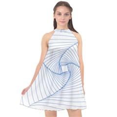 Spirograph Pattern Drawing Design Halter Neckline Chiffon Dress  by Nexatart