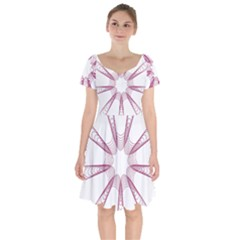 Spirograph Pattern Circle Design Short Sleeve Bardot Dress by Nexatart