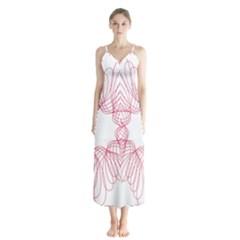 Spirograph Pattern Drawing Design Chiffon Maxi Dress by Nexatart