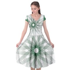 Spirograph Pattern Circle Design Cap Sleeve Wrap Front Dress by Nexatart