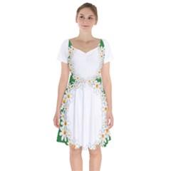 Photo Frame Love Holiday Short Sleeve Bardot Dress