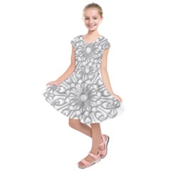 Scrapbook Side Lace Tag Element Kids  Short Sleeve Dress