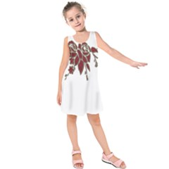 Scrapbook Element Nature Flowers Kids  Sleeveless Dress