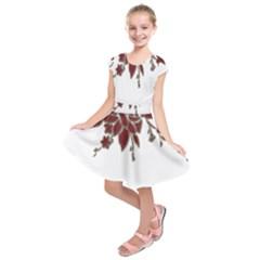 Scrapbook Element Nature Flowers Kids  Short Sleeve Dress