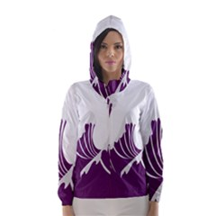Waves Purple Wave Water Chevron Sea Beach Hooded Wind Breaker (women) by Mariart