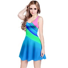 Aurora Color Rainbow Space Blue Sky Reversible Sleeveless Dress