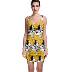 Animals Cat Dog Dalmation Sleeveless Bodycon Dress