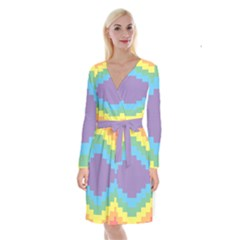 Carmigender Flags Rainbow Long Sleeve Velvet Front Wrap Dress by Mariart