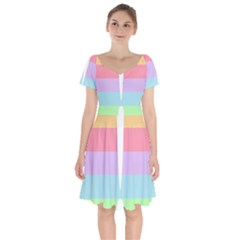 Condigender Flags Short Sleeve Bardot Dress
