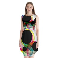 Apollonius Color Multi Circle Polkadot Sleeveless Chiffon Dress   by Mariart