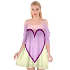 Cute Gender Gendercute Flags Love Heart Line Valentine Cutout Spaghetti Strap Chiffon Dress by Mariart