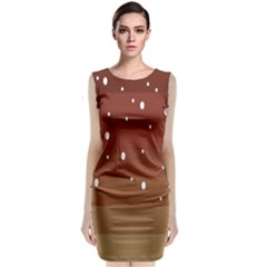 Fawn Gender Flags Polka Space Brown Classic Sleeveless Midi Dress by Mariart