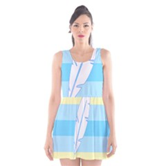 Feather Flags Scoop Neck Skater Dress by Mariart