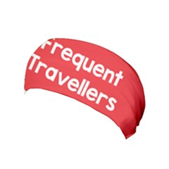 Frequent Travellers Red Yoga Headband by Mariart