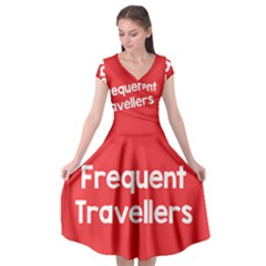 Frequent Travellers Red Cap Sleeve Wrap Front Dress by Mariart