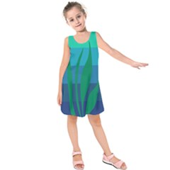 Gender Sea Flags Leaf Kids  Sleeveless Dress