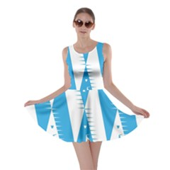 Make Tessellation Bird Tessellation Blue White Skater Dress by Mariart