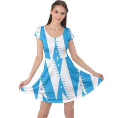Make Tessellation Bird Tessellation Blue White Cap Sleeve Dresses by Mariart
