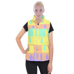 Puzzle Gender Women s Button Up Puffer Vest by Mariart