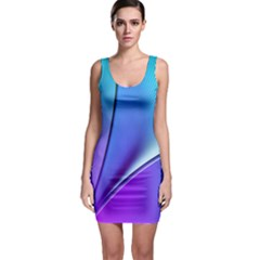 Line Blue Light Space Purple Sleeveless Bodycon Dress by Mariart