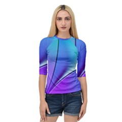 Line Blue Light Space Purple Quarter Sleeve Tee by Mariart