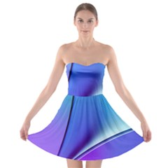 Line Blue Light Space Purple Strapless Bra Top Dress by Mariart