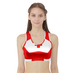 Tabla Laboral Sign Red White Sports Bra With Border by Mariart