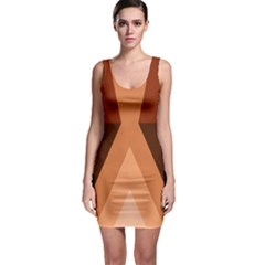 Volcano Lava Gender Magma Flags Line Brown Sleeveless Bodycon Dress by Mariart
