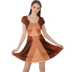 Volcano Lava Gender Magma Flags Line Brown Cap Sleeve Dresses by Mariart