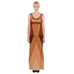 Volcano Lava Gender Magma Flags Line Brown Maxi Thigh Split Dress by Mariart